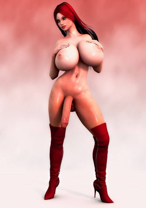 3d shemales with big boobs